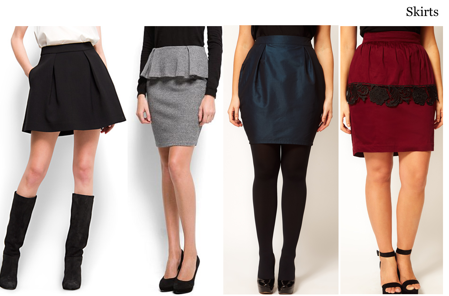 How to skirt a wear apple shape images