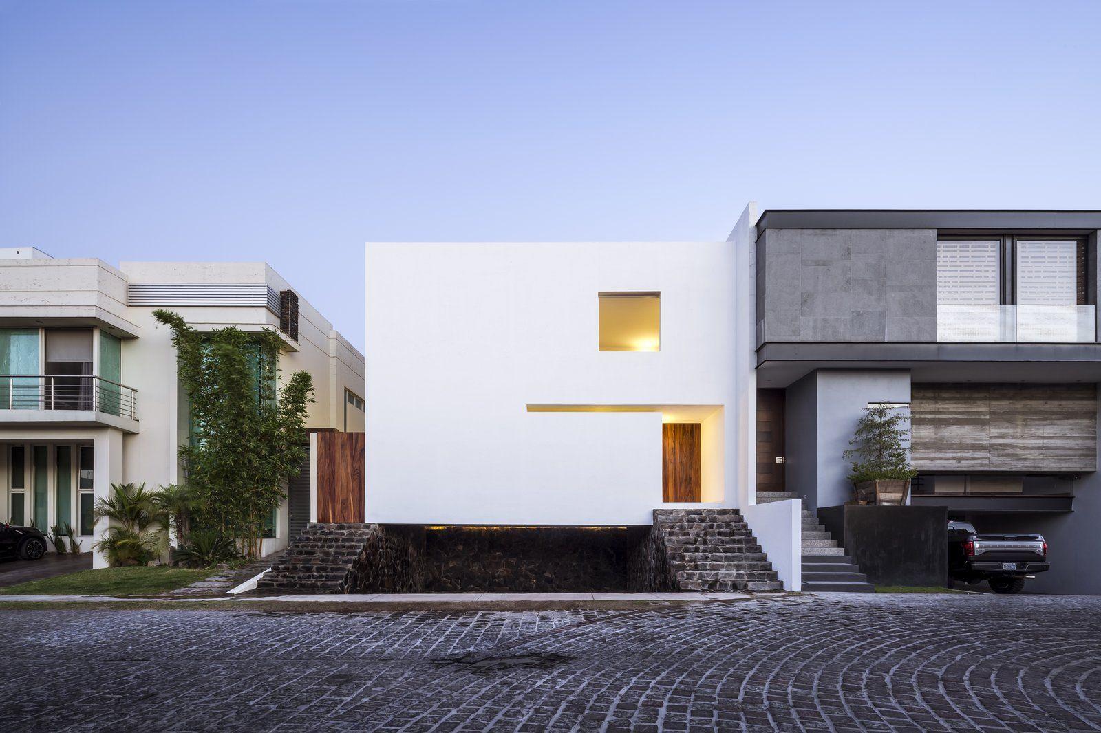 The cave modern home in zapopan jalisco méxico front gardens