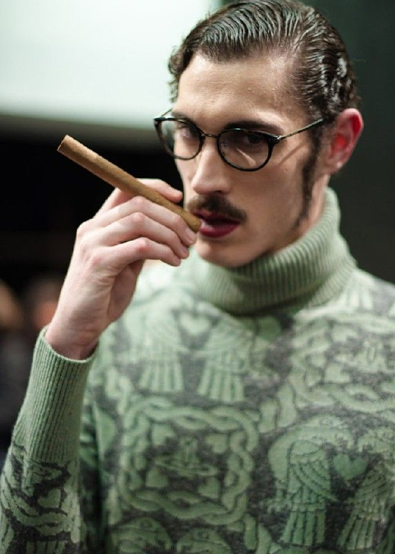 Cigars and slicked-back hair at the Vivienne Westwood Menswear AW11 show. More images at: http://www.dazeddigital.com/vivienne-westwood-takeover