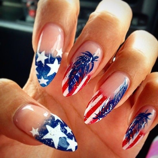Untitled Fourth Of July Nails 4th Of July Nails American Flag Nails