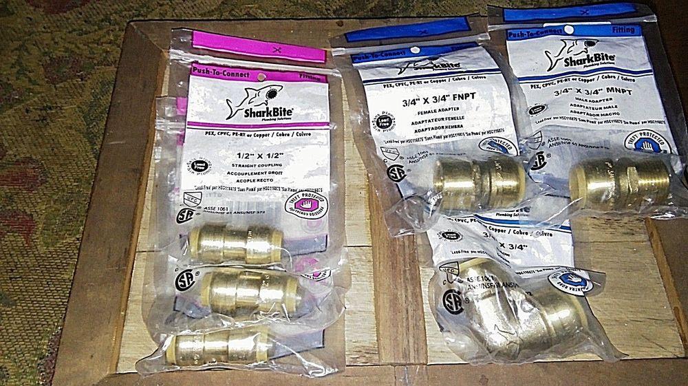 "Lead-Free Brass Tee 1/"" Sharkbite Style Push-Fit x 1/"" FNPT Female Threaded"