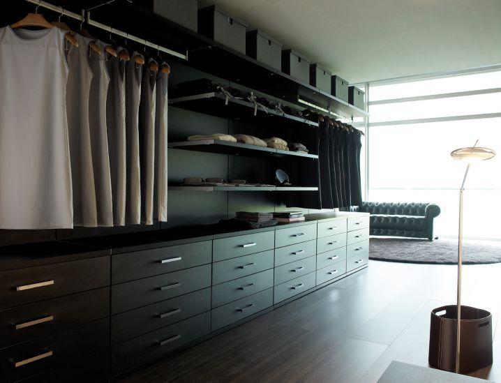 Vestidor en negro | Deco | Pinterest | Vestidor, Negro y Armario de ...