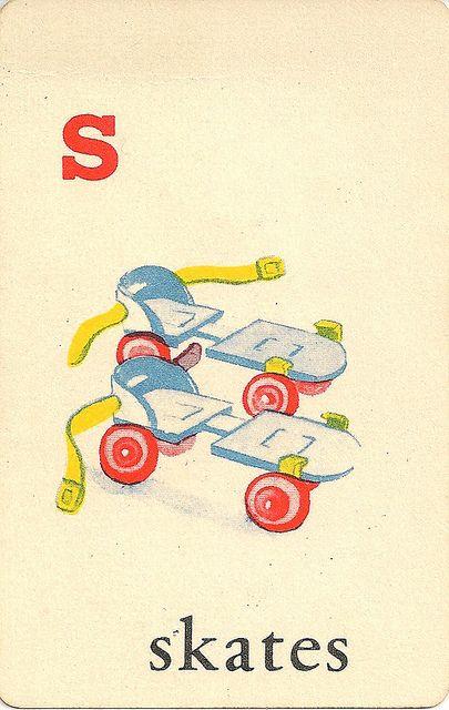 Complete Set Of Free Printable Vintage Alphabet Flash Cards