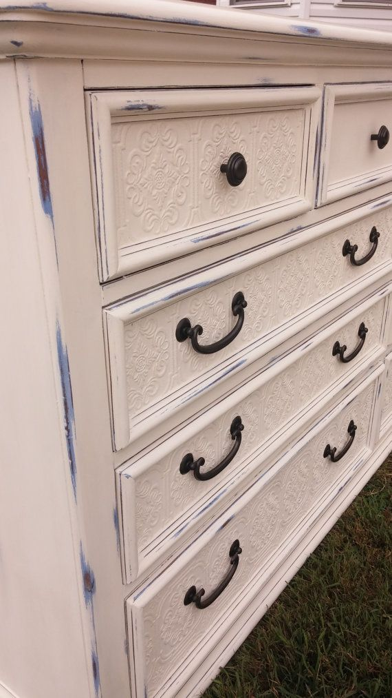 Refinished Dresser/Changing Table in Annie by newbeginningsdecor ...