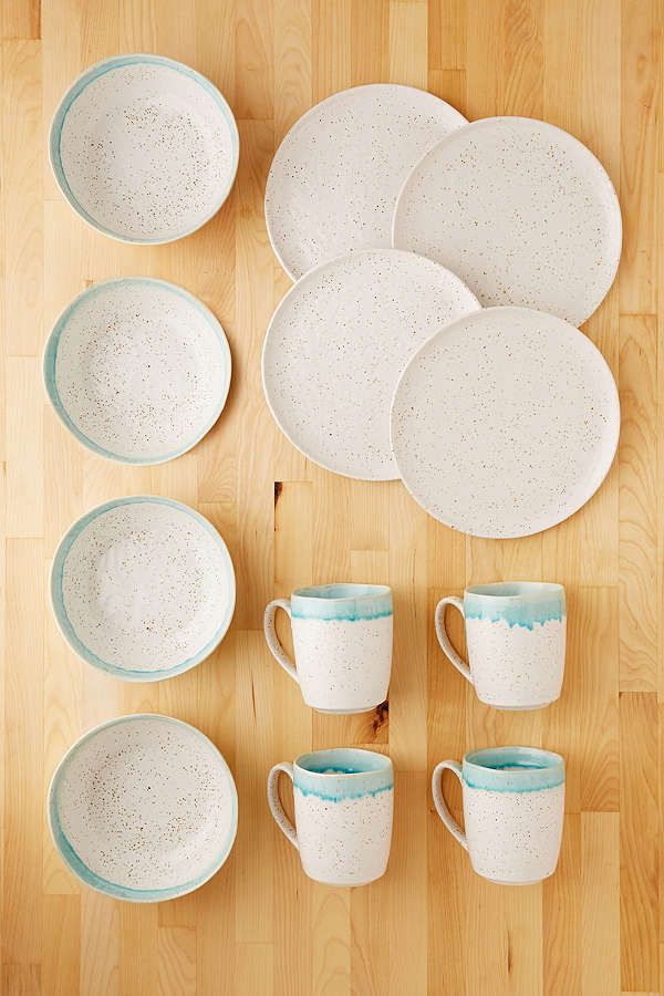 12-Piece Speckle Reactive Glaze Dinnerware Set & 12-Piece Speckle Reactive Glaze Dinnerware Set | Dinnerware ...