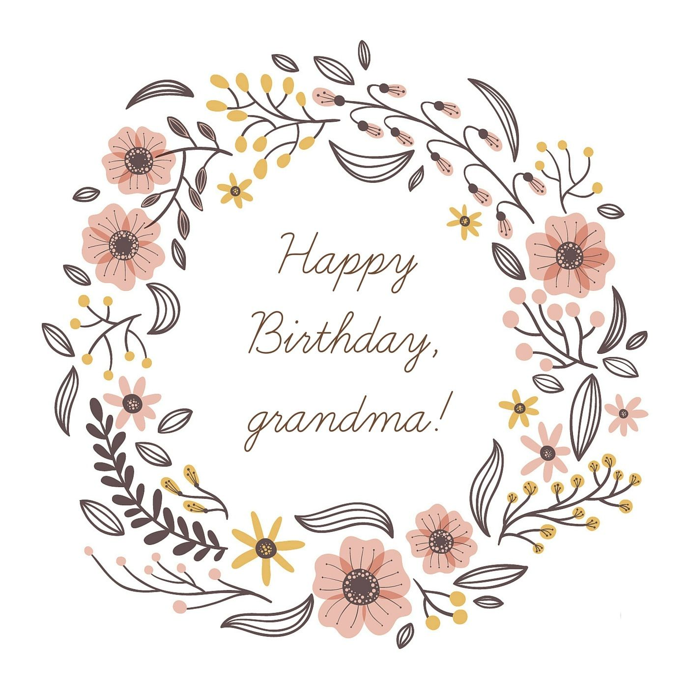 Happy Birthday Grandma – Birthday Cards Messages