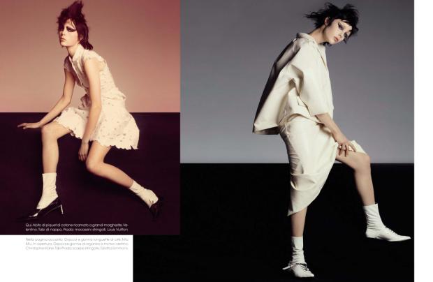 awesome Vogue Itália   Editorial de Moda Abril 2013   Edie Campbell por Steven Meisel