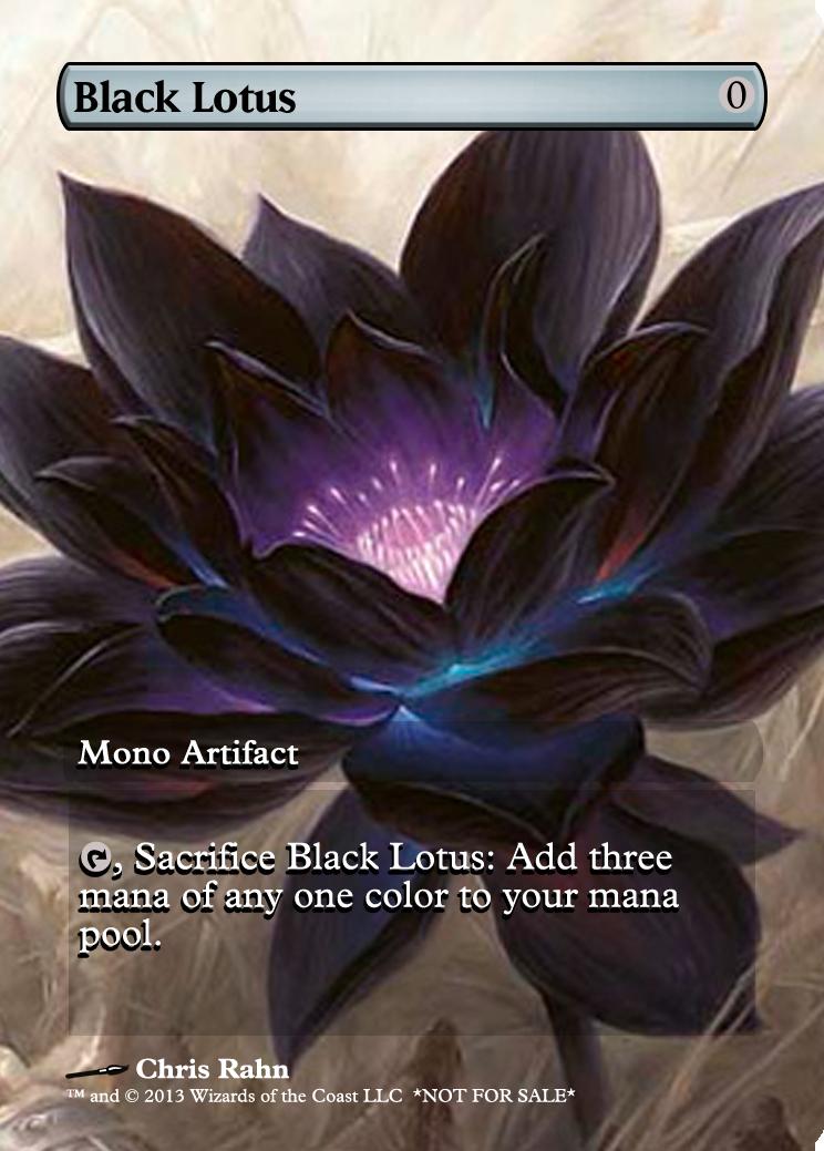 Black Lotus Mtg Custom Proxies Mtg Altered Art Magic Cards