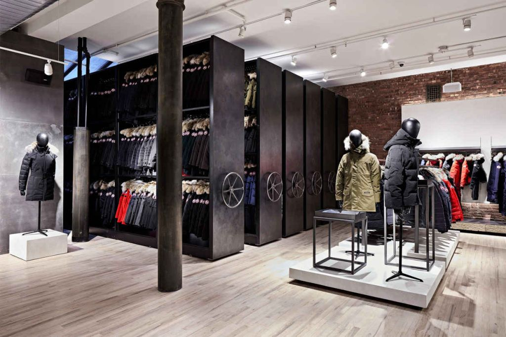 Canada Goose Launches Flagship Store In Nyc Canada Goose Store Retail Store Design Canada Goose