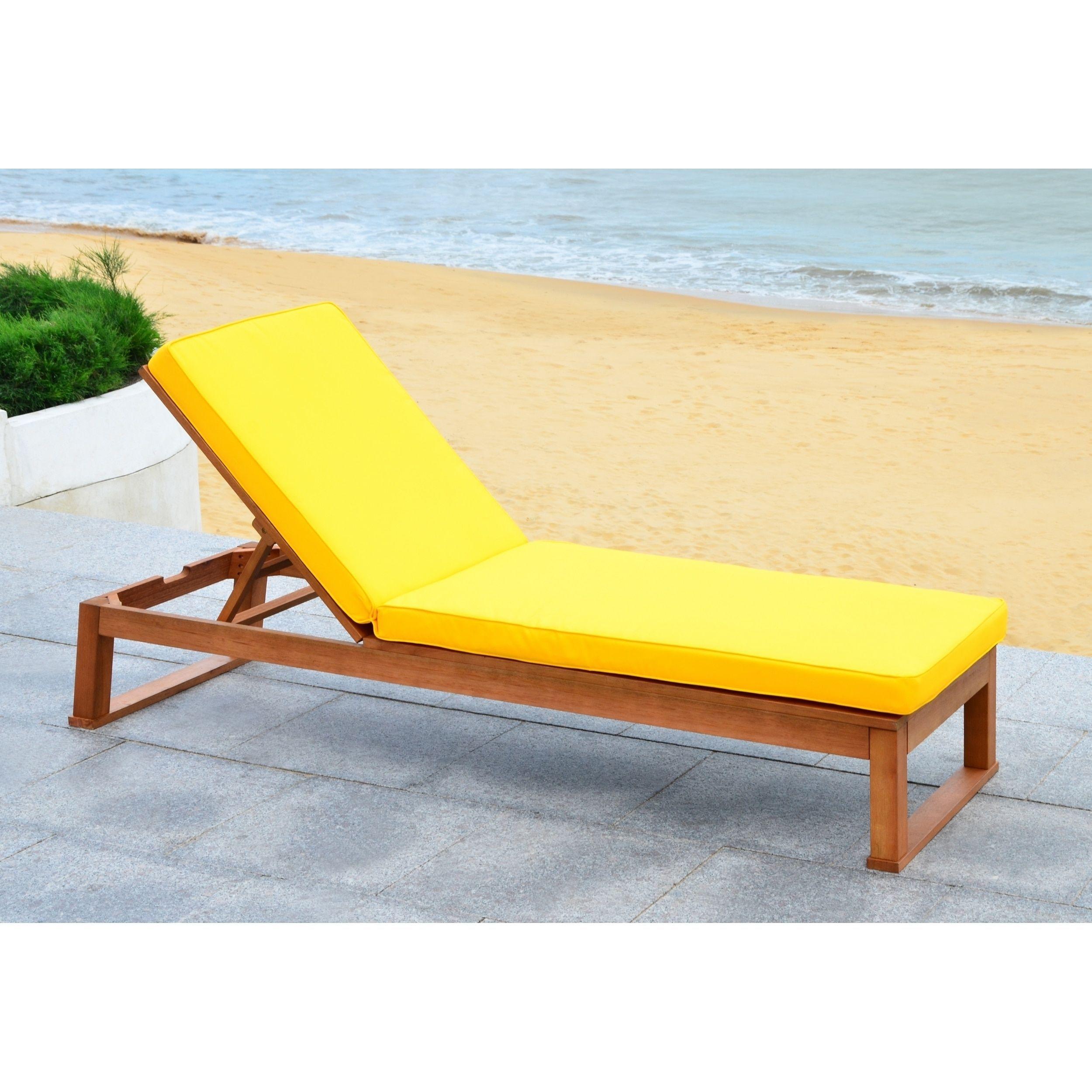 Safavieh Outdoor Living Solano Brown/ Yellow Sunlounger ... on Safavieh Outdoor Living Solano Sunlounger id=67048
