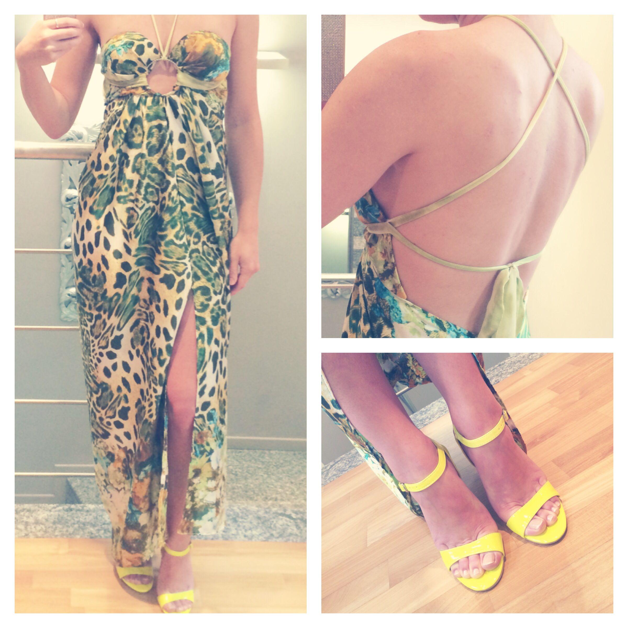 Long dress fantasy animalier glamour summer bettaus made pinterest