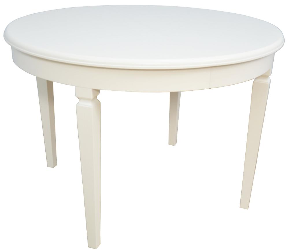 Biały Okrągły Stół Fi 110 Cm Rozkładany Do 210 Hit