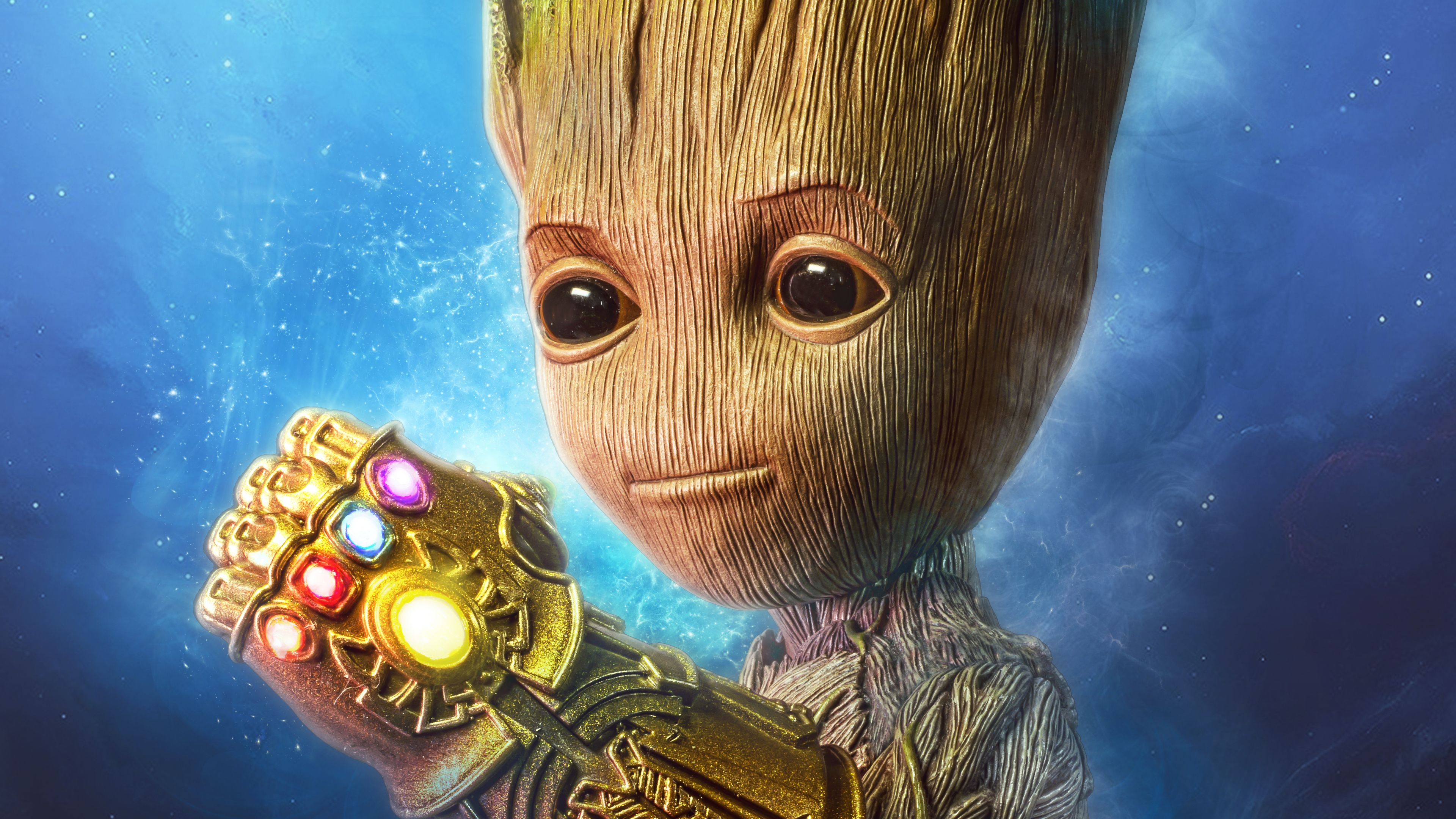 Baby Groot Gauntlet 4k Superheroes Wallpapers, Hd