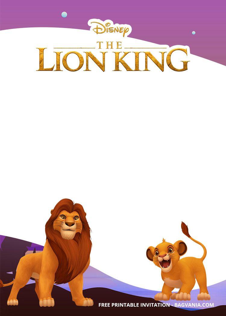 4+ FREE Printable Lion King Invitation Templates  DREVIO  Lion