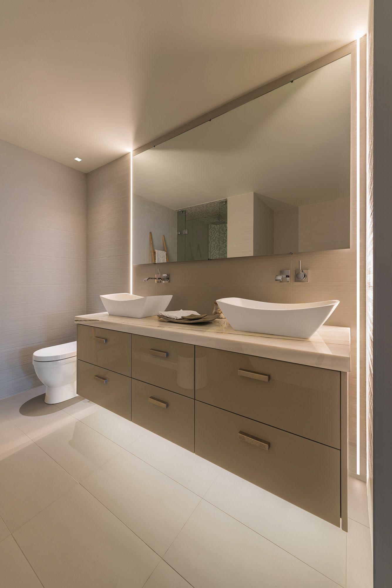 Floating Led Bath Spa Lights Bathroom Furniture Modern Modern