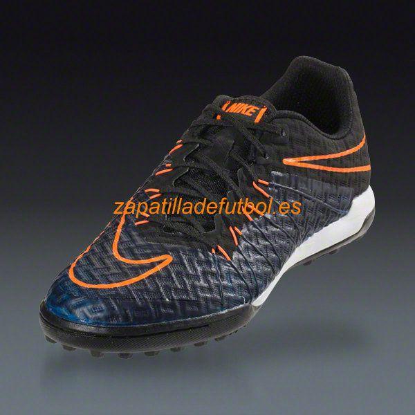 Mejor Zapatillas de futbol Para Moqueta Nike Hypervenom X Finale TF Negro  Naranja Total Del Corredor