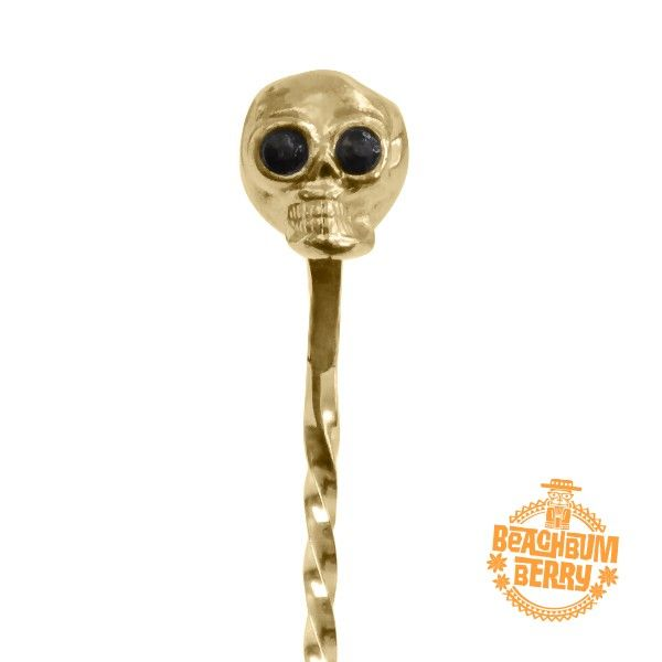 Skull Barspoon Gold-plated 33cm