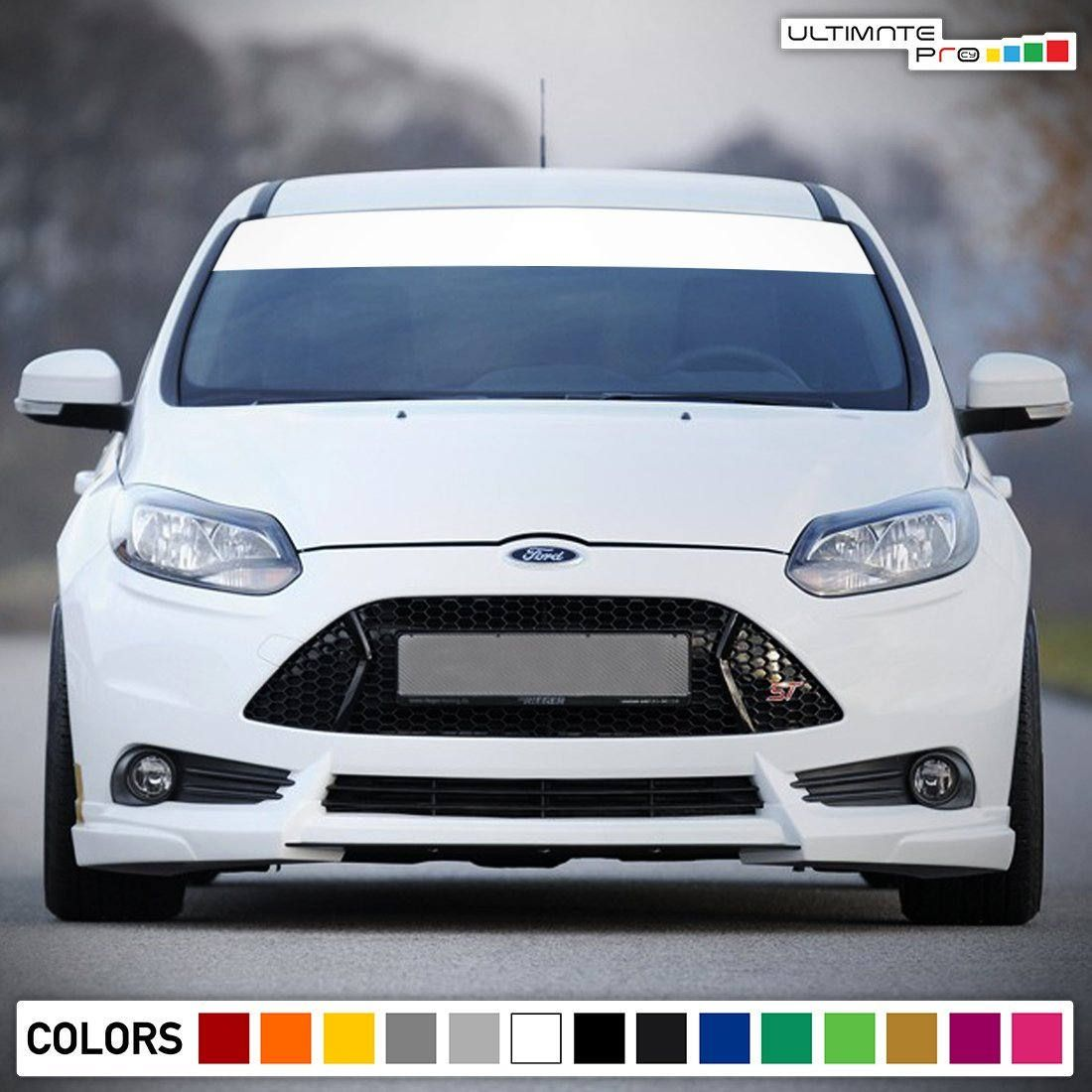 Windshield Banner Sun Visor Strip Decal Sticker Vinyl Compatible With Ford Focus St Rt 2011 2017 Ford Focus Ford Focus St Visor [ 1100 x 1100 Pixel ]