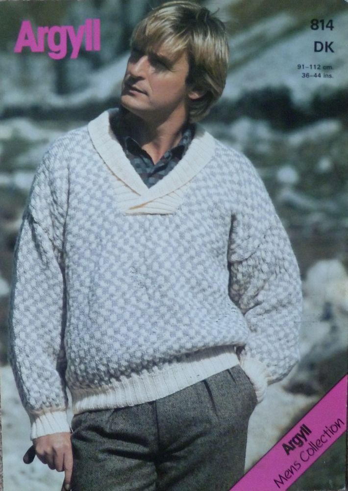 Details about ARGYLL MENS COLLECTION KNITTING PATTERN 814  80dc7c6de