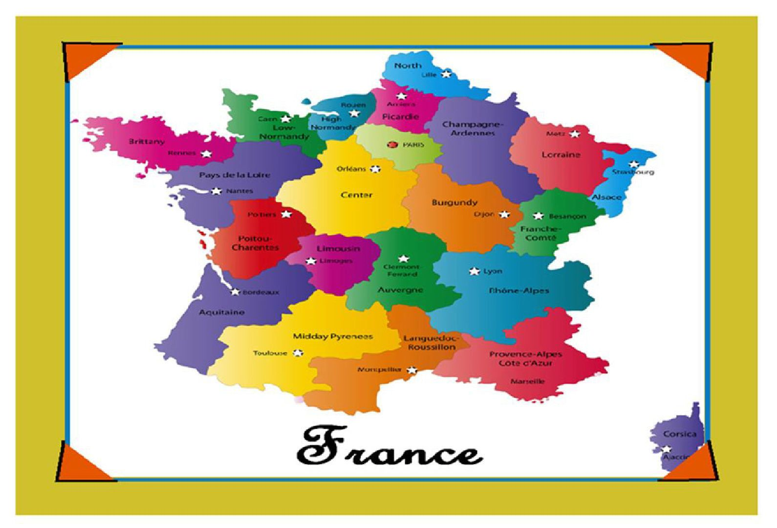 FRANCE SOUVENIR NOVELTY FRIDGE MAGNET BRAND NEW