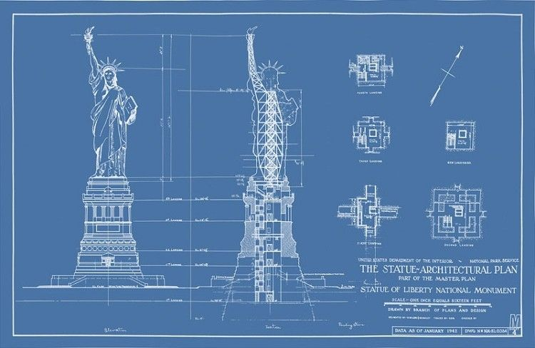 Statue of Liberty Blueprint | LIBERTY RESEARCH | Pinterest