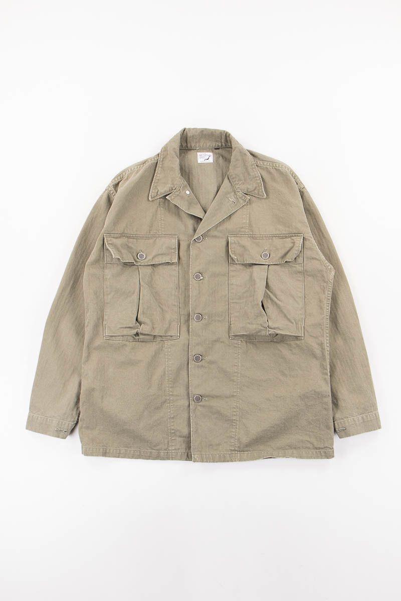 84b848940aa orSlow Green Used Herringbone US Army Jacket