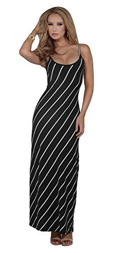 Womens Fitted Rayon Scoop Neck Striped Backless Spaghetti Strap Long Maxi Dress Hot from Hollywood http://www.amazon.com/dp/B00ZY9HZMI/ref=cm_sw_r_pi_dp_r62Ovb0CV3FR5