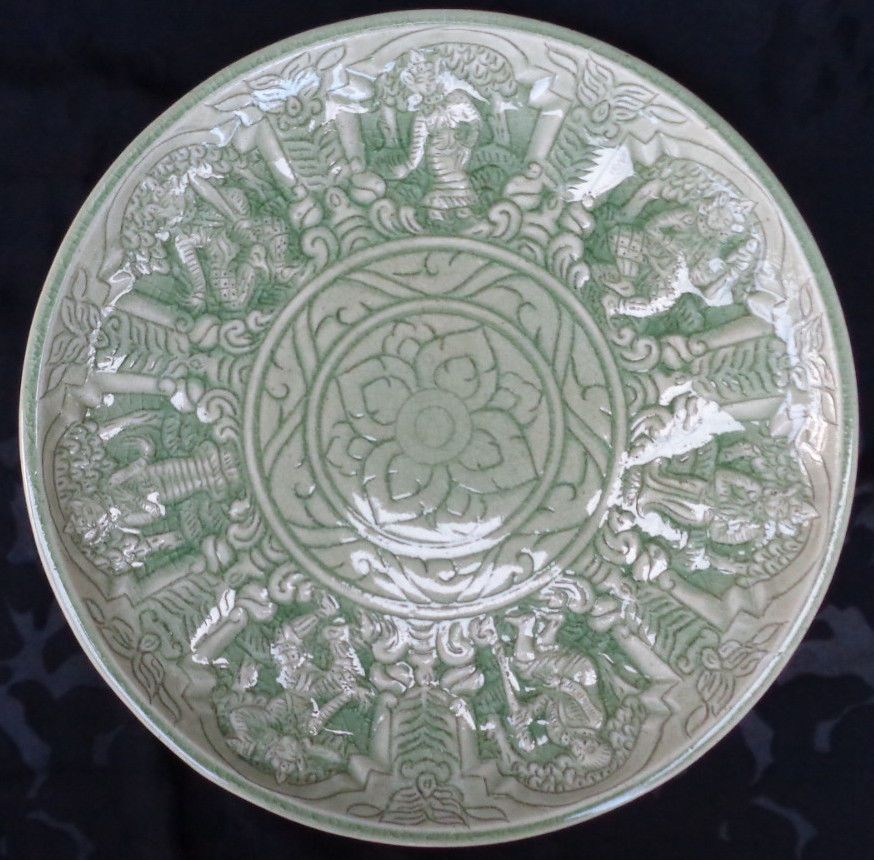 Collectible Trays \u0026 Platters | eBay. RARE VINTAGE THAI CELADON ... & RARE VINTAGE THAI CELADON PLATE JADE GREEN POTTERY 11"|874|860|?|en|2|d975a97ed7d1eb77812cde34b7a12e86|False|UNLIKELY|0.32165244221687317