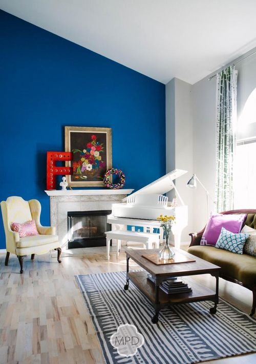 Best Bright Blue Wall Melody Palmer Design For The Home 640 x 480