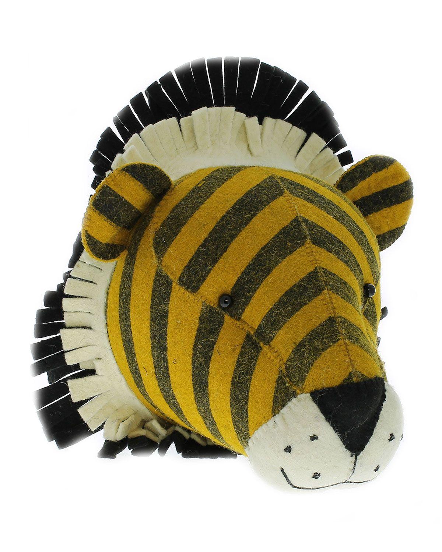 Felt Tiger Head Wall Mount   Faux taxidermy   Pinterest   Wall mount ...