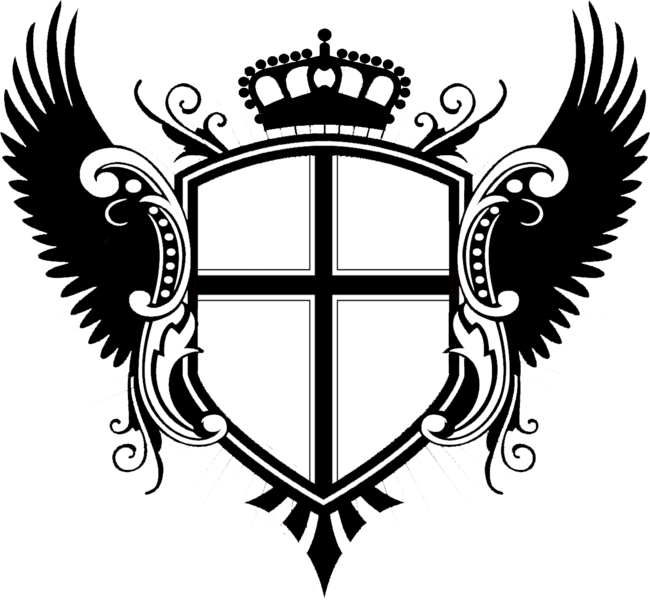 Crest With Wings Psd Official Psds Cute Little Drawings Coat Of Arms Background Design Vector
