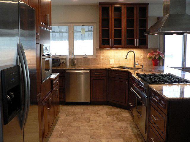 Sink In A Corner Corner Sink Kitchen Layout Kitchen Remodel