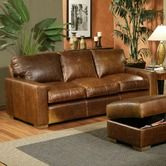 Kathy Ireland Home By Omnia City Craft Leather 3 Seat Sofa
