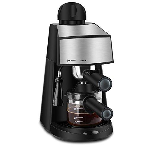 Espresso Machine 800W 4 Cup Stainless Steel Espresso
