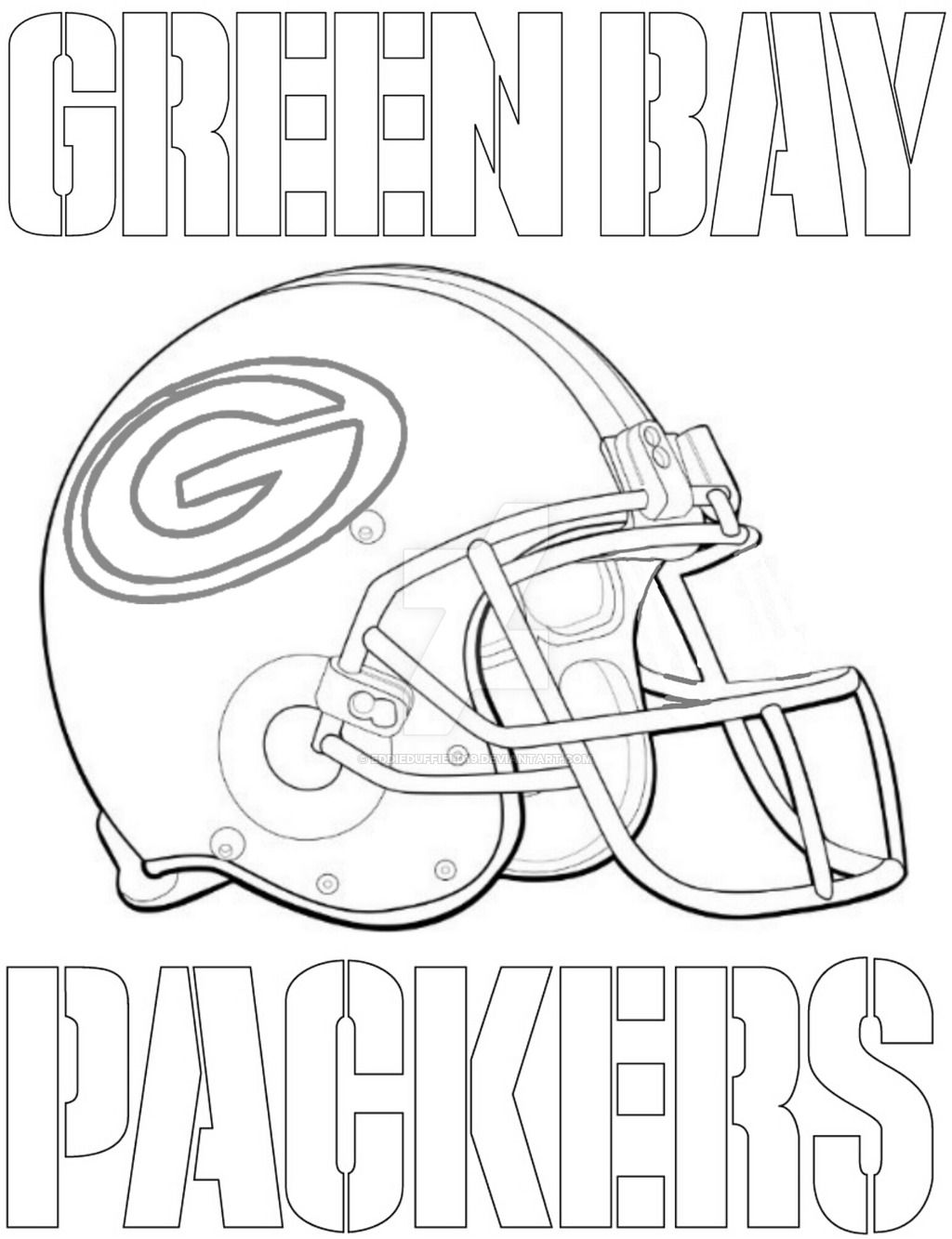Green Bay Packers Coloring Page Football Coloring Pages Coloring Pages Sports Coloring Pages