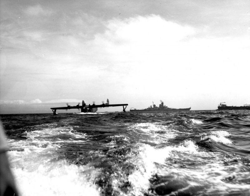 A Consolidated PB2Y Coronado with the Commander in Chief US