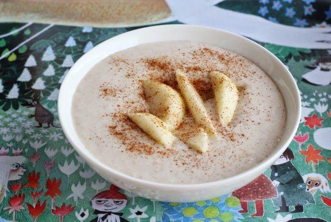 Kaurainen päärynä-jogurttivispipuuro