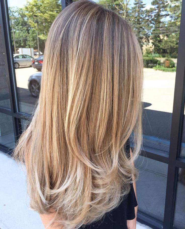 Long Bronde Hair with Golden,Blonde Balayage and Chunky