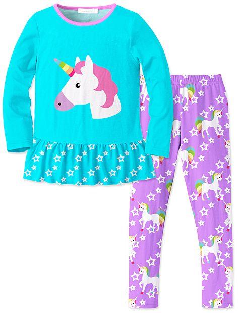 96bf46ad99c06 Turquoise & Purple Unicorn Tunic & Leggings - Toddler & Girls | W in ...