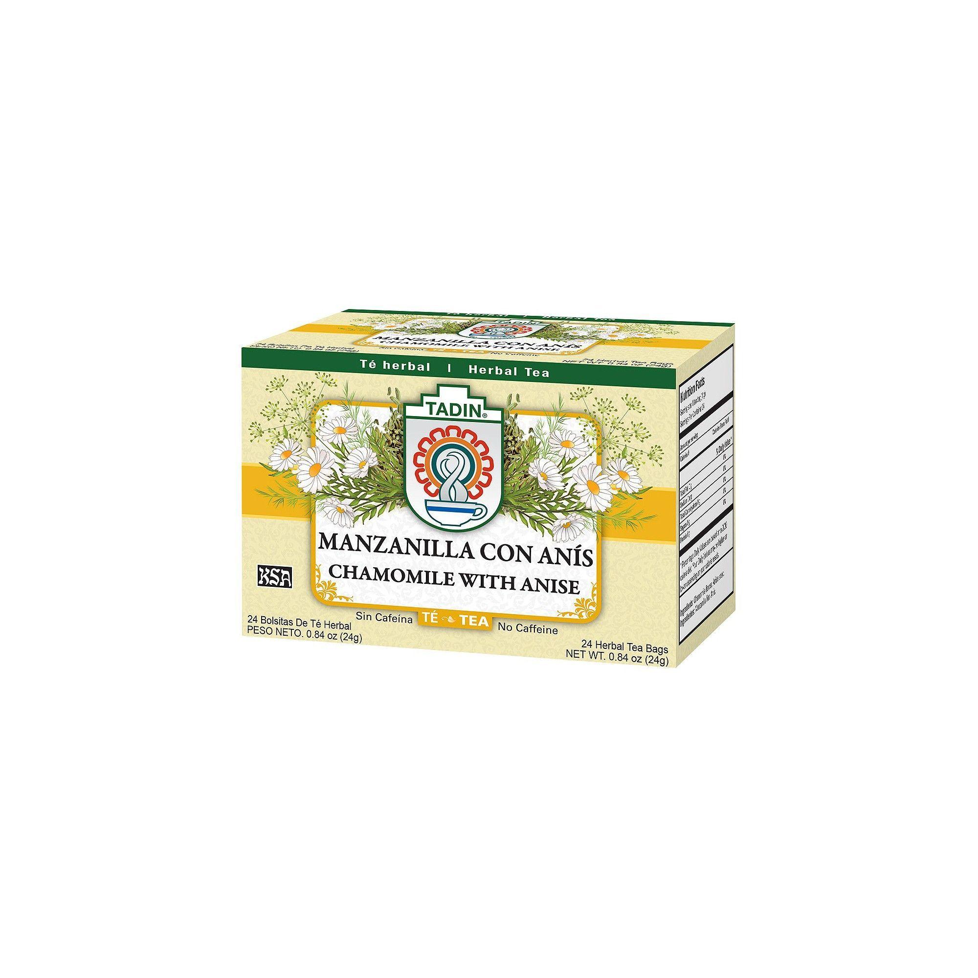 Tadin Manzanilla Con Anis Chamomile With Anise Tea 24ct Tea Chamomile Tea Chamomiles