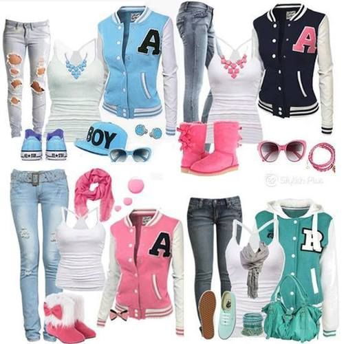 Cute Letterman Jacket Outfits  Cute Tomboy Outfits -6268