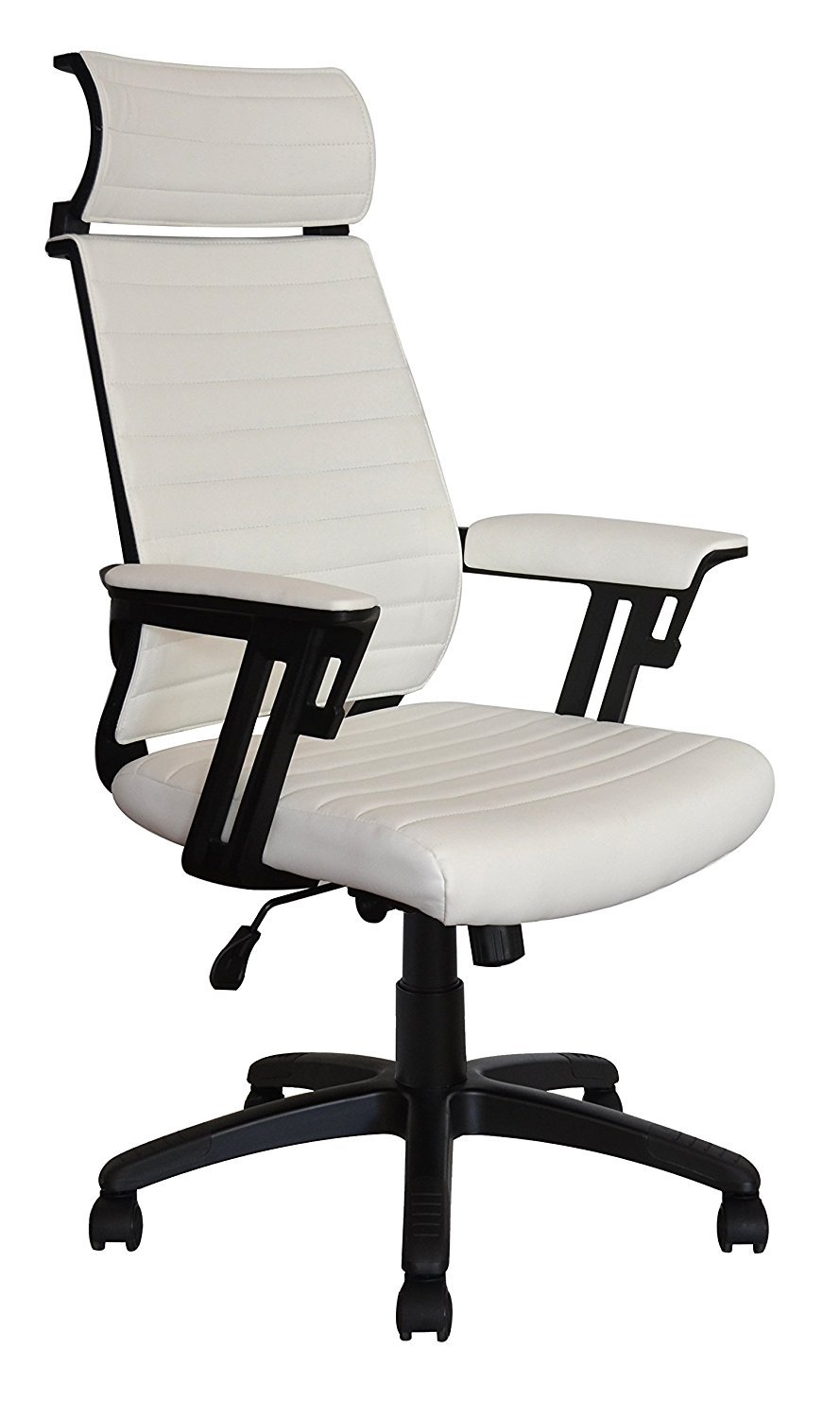 Executive contemporary office chair with attached headrest