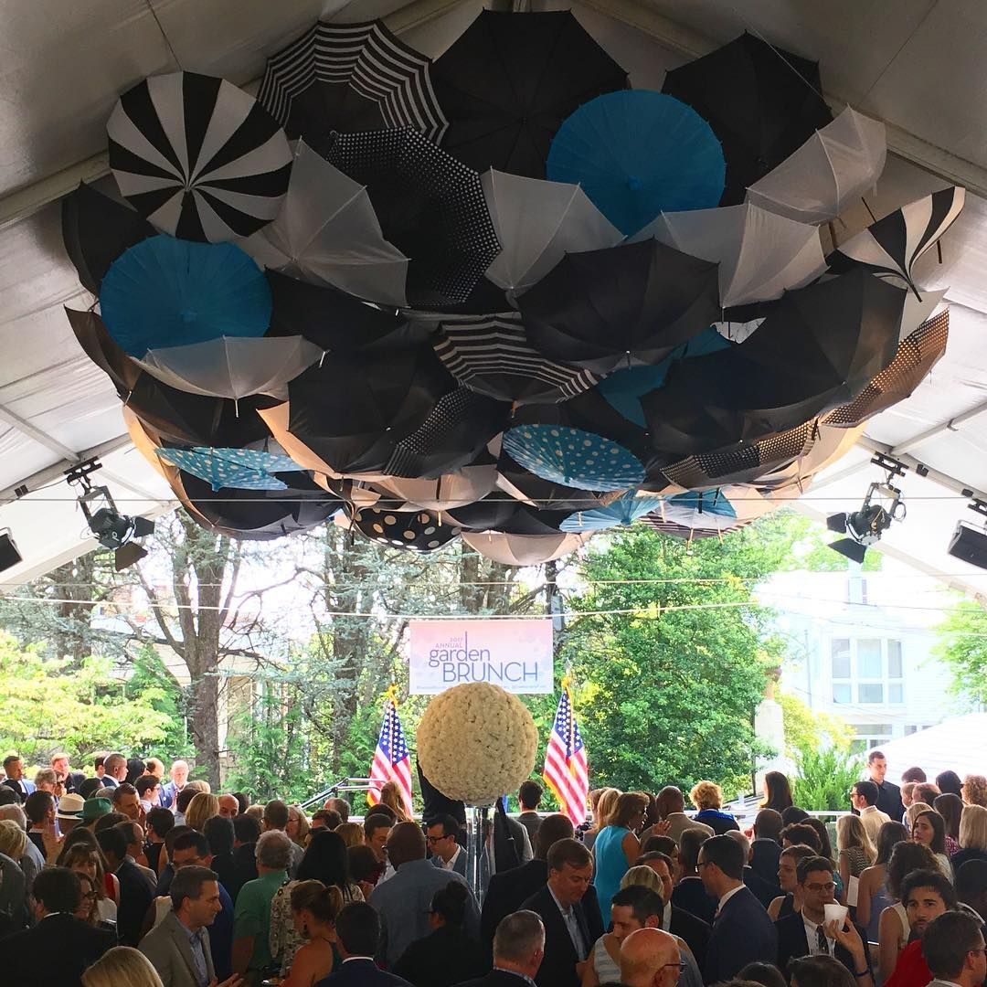Explore Special Events Brunch and more! Upside down umbrellas adorn the tent ... & Upside down umbrellas adorn the tent hosting the Annual Garden ...
