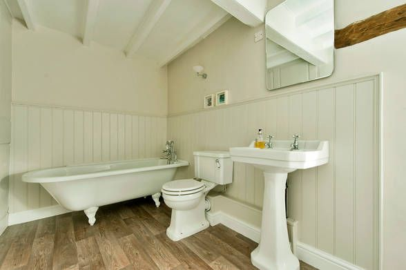 Inspiration For A Victorian Style Bathroom Paneling Painted