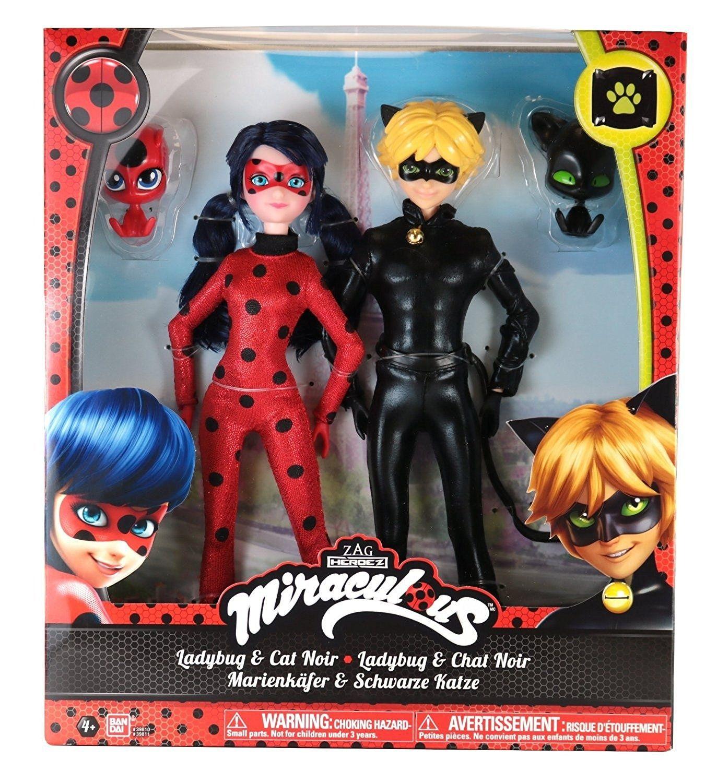 13 cm. Ladybug Action FIgure Cat Noir Heroez BANDAI ZAG Miraculous Adrien