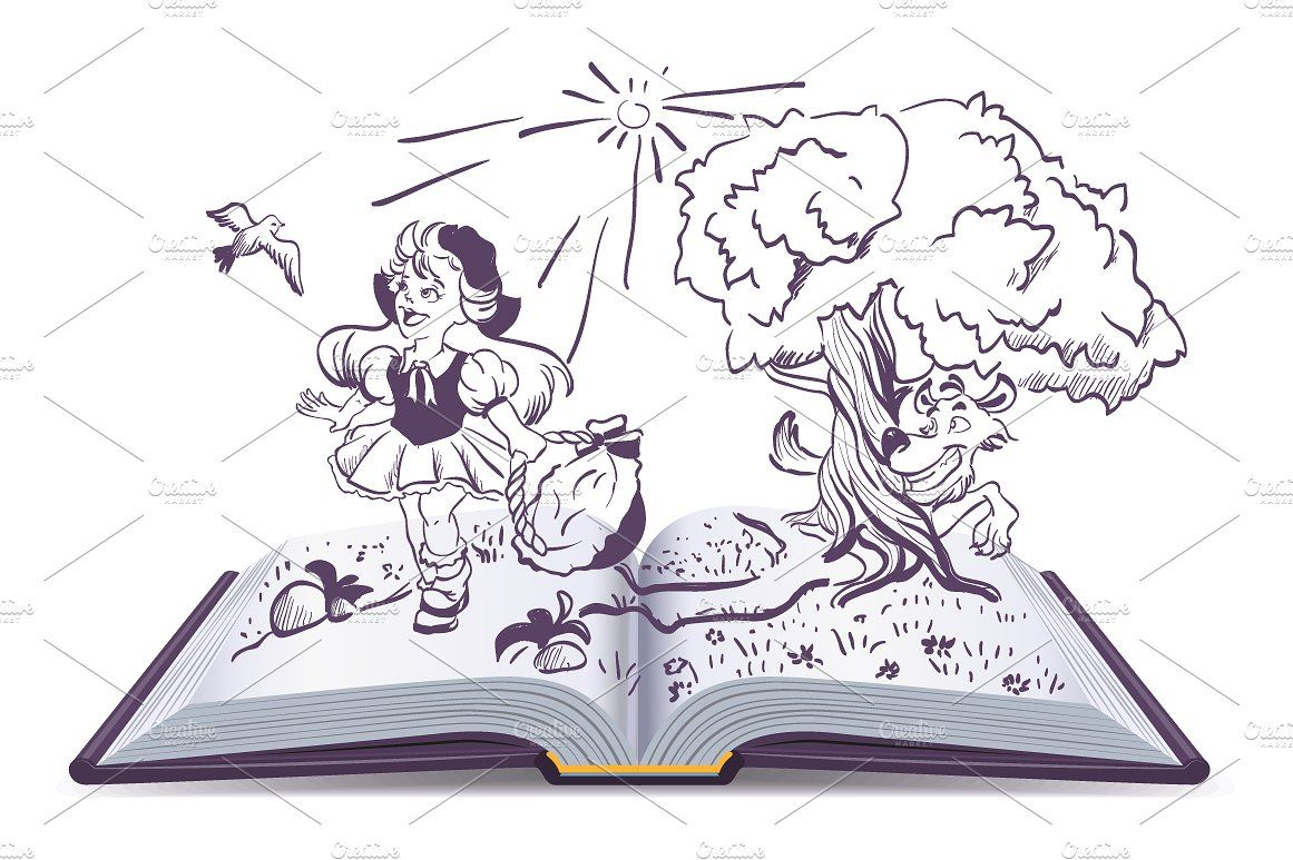 10+ Fairy Tale Clipart Black And White
