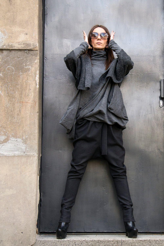 NUOVA collezione goccia carbone cavallo pantaloni ...
