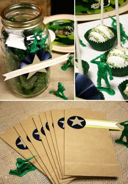 Green army men birthday is exactly what braden wants this for Army theme party decoration ideas