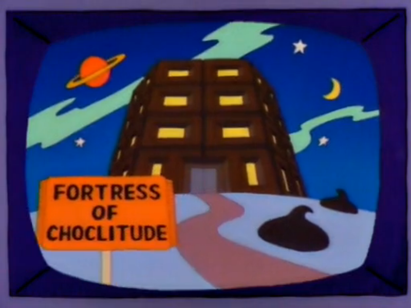 Fortress Of Choclitude The Simpsons Fortress Simpson