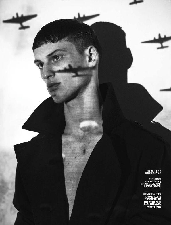 2201cda39 David Trulik Dons Military-Inspired Fashions for August Man Shoot ...